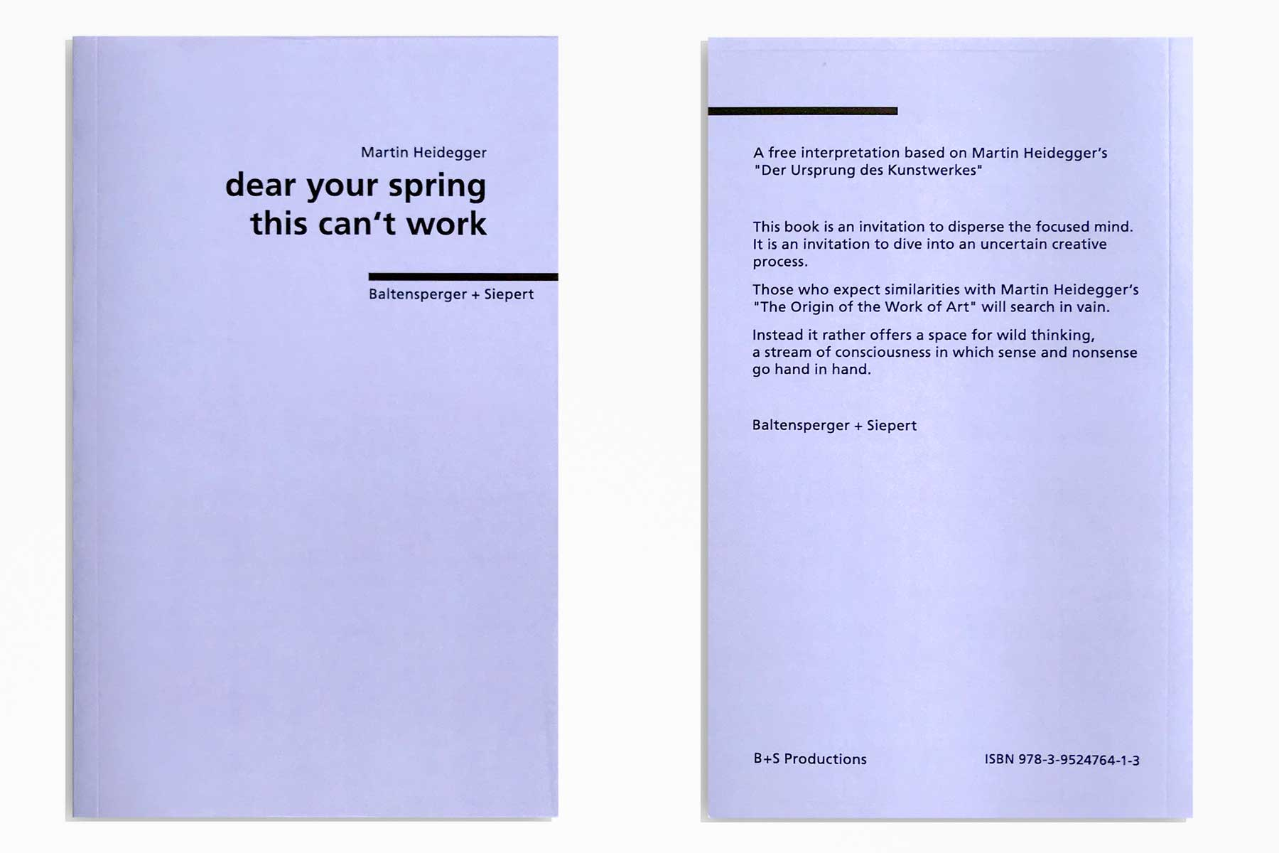 Baltensperger + Siepert –dear your spring this can't work